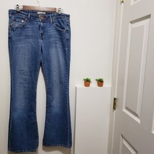 Levi Too Super Low 518 Boot Cut Jeans, Size 11
